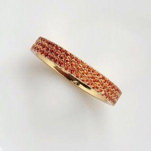 ☠APM Monaco Orange Paved Ring - Yellow Silver